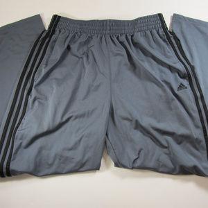 ADIDAS Mens Large Gray Basketball Athletic Pants